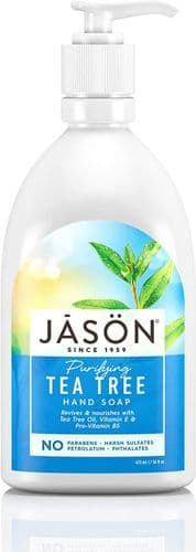 Jasons Natural Organic Tea Tree Oil Liquid Soap with Pump